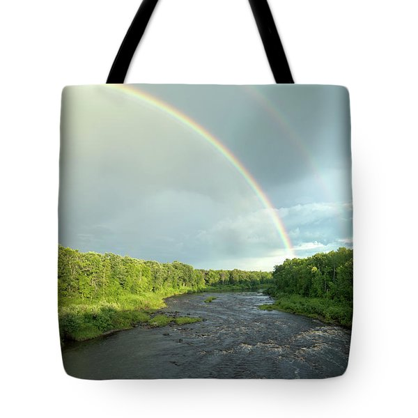 Rainbow Over The Littlefork River Tote Bag