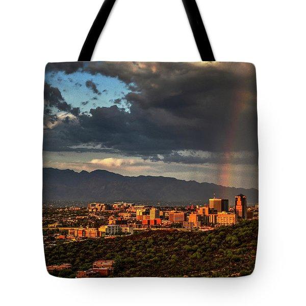 Rainbow Over Tucson Tote Bag