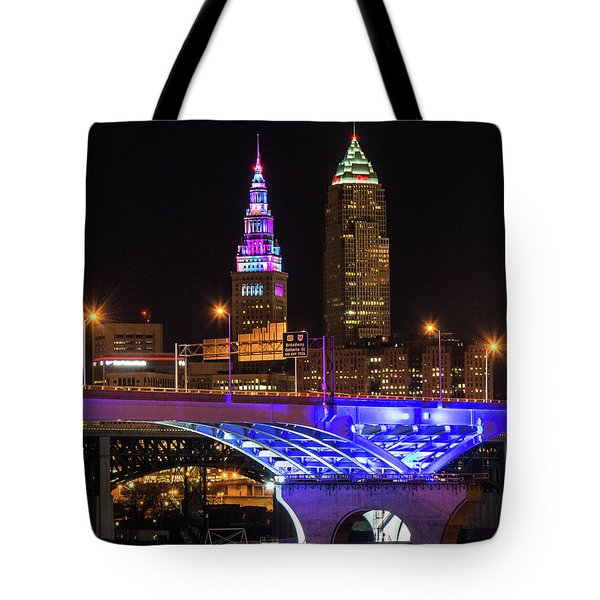 Rainbow Tower In Cleveland Tote Bag