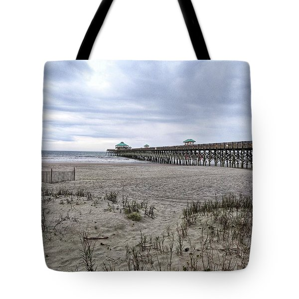 Rainy Beach Day Tote Bag