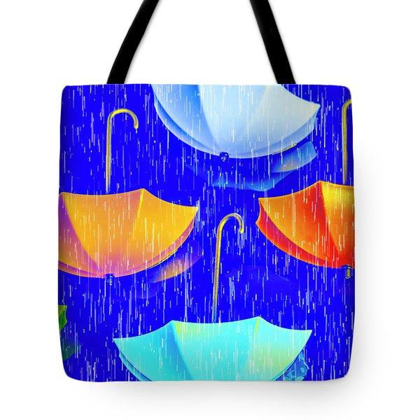 Rainy Day Parade Tote Bag