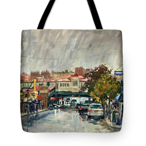 Rainy Morning 231st Street The Bronx Tote Bag