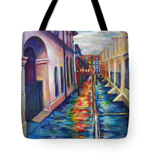 Rainy Pirate Alley Tote Bag