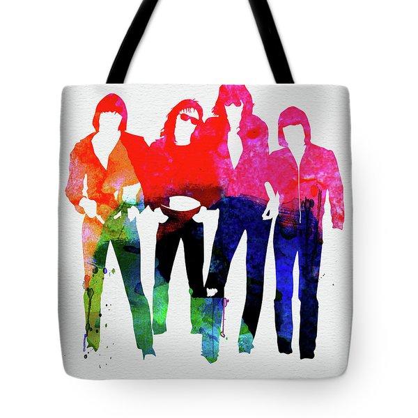 Ramones Watercolor Tote Bag