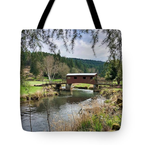 Ranch Hills Covered Bridge Tote Bag