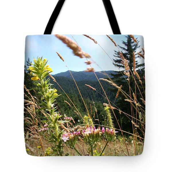 Tote Bag featuring the photograph Range Obscured by Dylan Punke