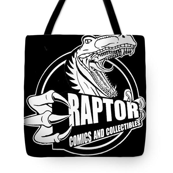 Raptor Comics Black Tote Bag