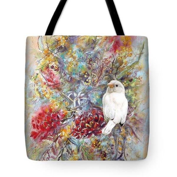 Rare White Sparrow - Portrait View. Tote Bag