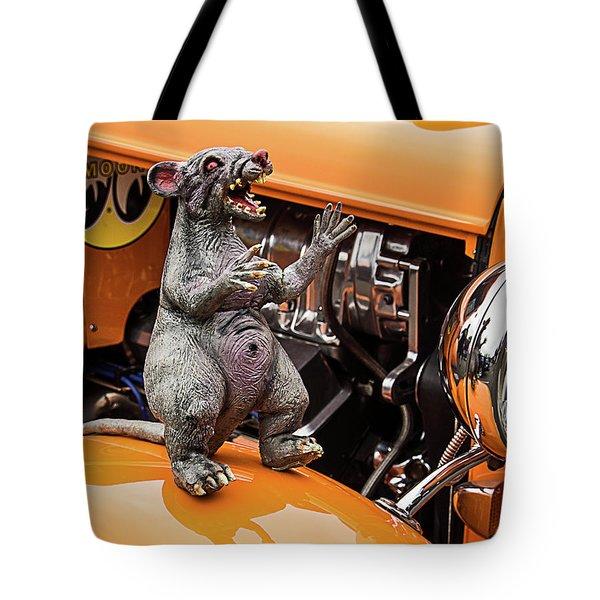 Rat On Fender Tote Bag