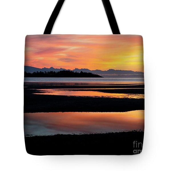 Vancouver Island Rathtrevor Beach Sunrise  Tote Bag