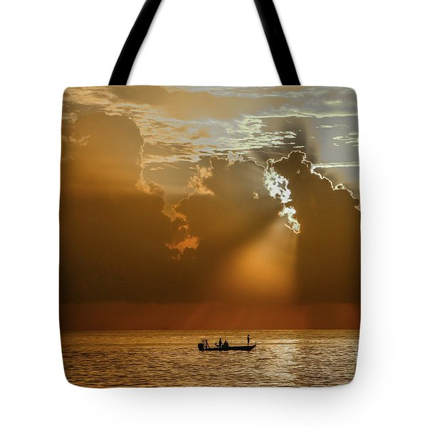Tote Bag featuring the photograph Rays Light The Way by Tom Claud