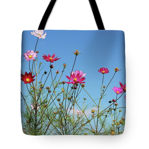 Reach For The Cosmos Tote Bag
