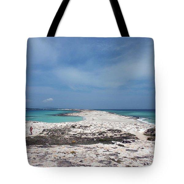 Reaching Out To Ibiza Tote Bag