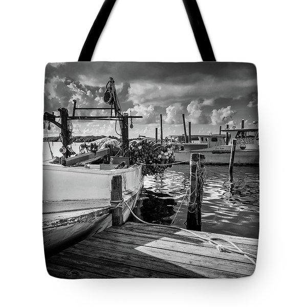 Tote Bag featuring the photograph Ready To Go In Bw by Doug Camara
