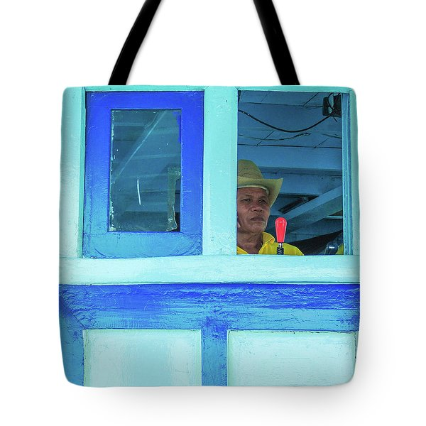 Ready To Go Into Warp Drive Tote Bag