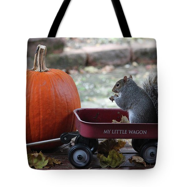 Ready To Ride My Little Red Wagon Tote Bag