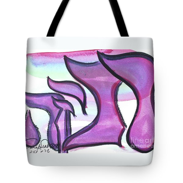 Tote Bag featuring the painting Rebeca Nf1-90 by Hebrewletters Sl