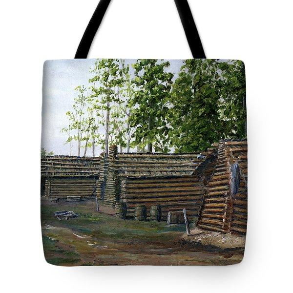 Rebel Huts, Port Hudson, Louisiana 1863 Tote Bag