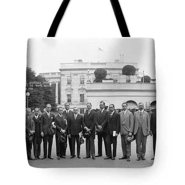 Reception By President Coolidge Tote Bag