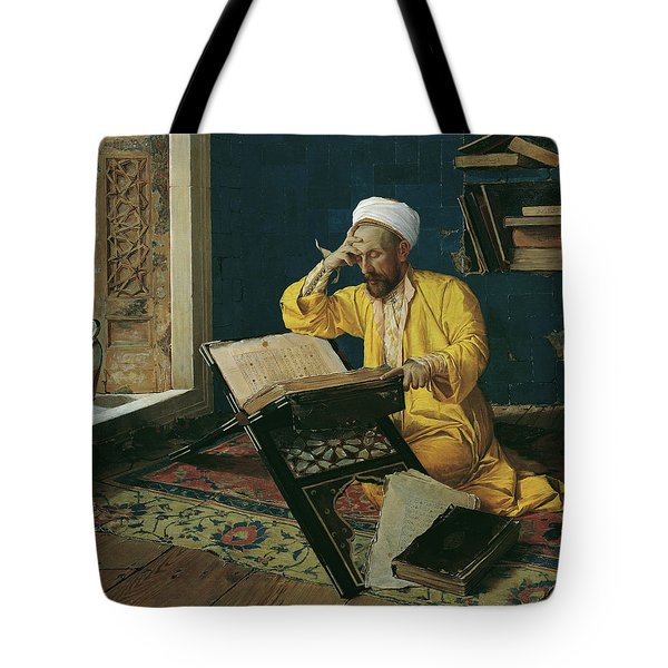Reciting The Quran, 1902 Tote Bag