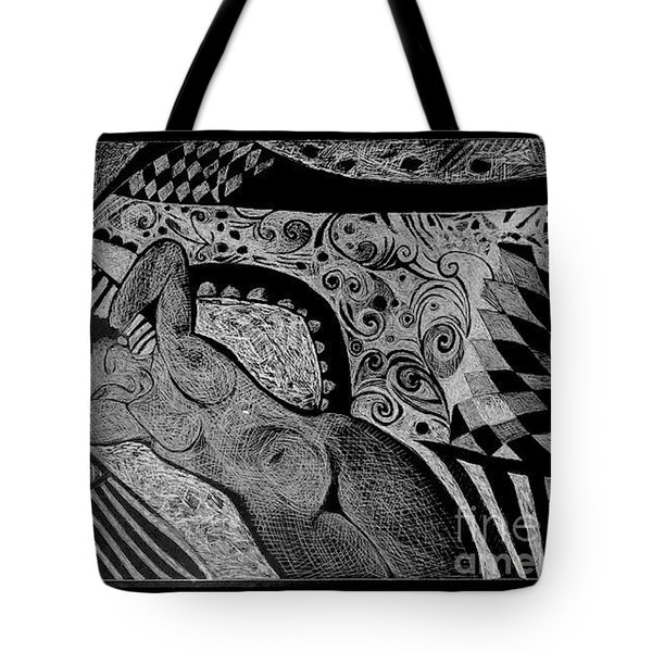 Reclining With Pillows Tote Bag