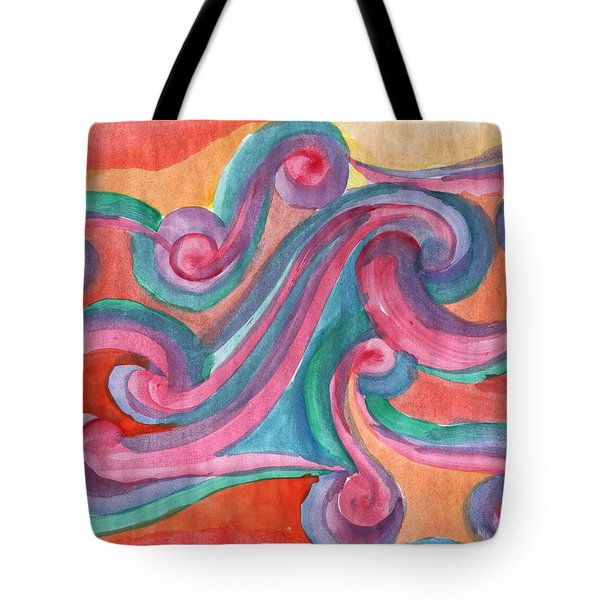 Tote Bag featuring the painting Red Abstraction by Dobrotsvet Art