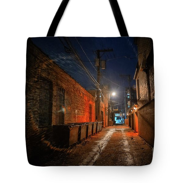 Red Alley Tote Bag