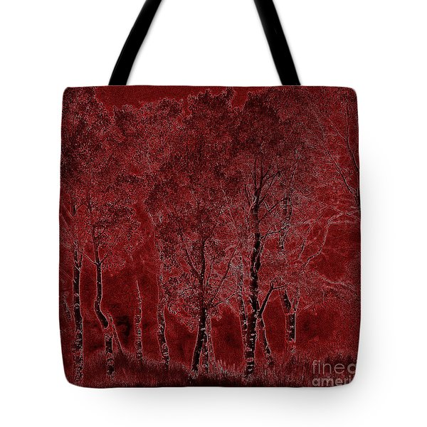 Red Aspen Grove Tote Bag