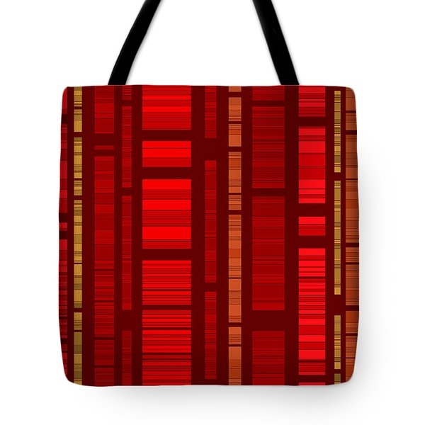 Red Bamboo Tote Bag