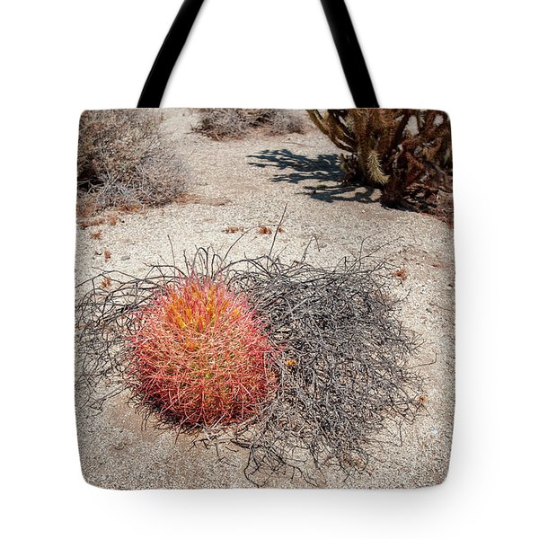 Red Barrel Cactus And Mesquite Tote Bag