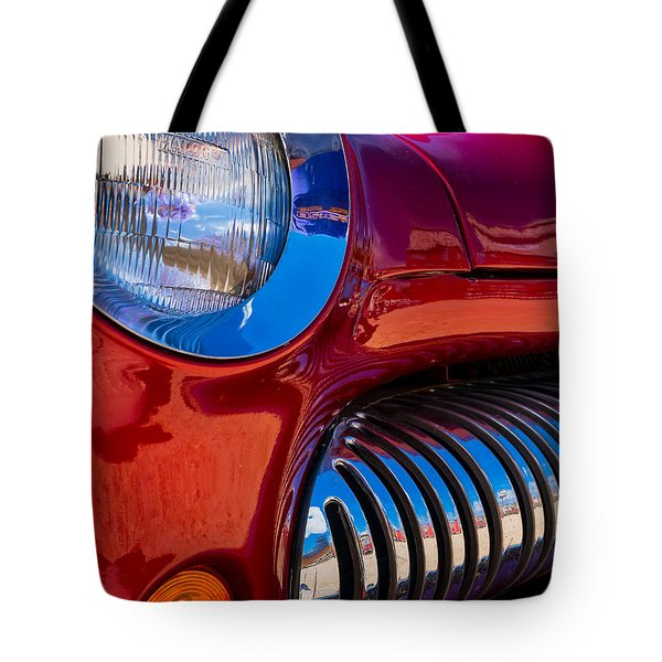 Red Car Chrome Grill Tote Bag
