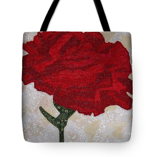 Red Carnation Tote Bag