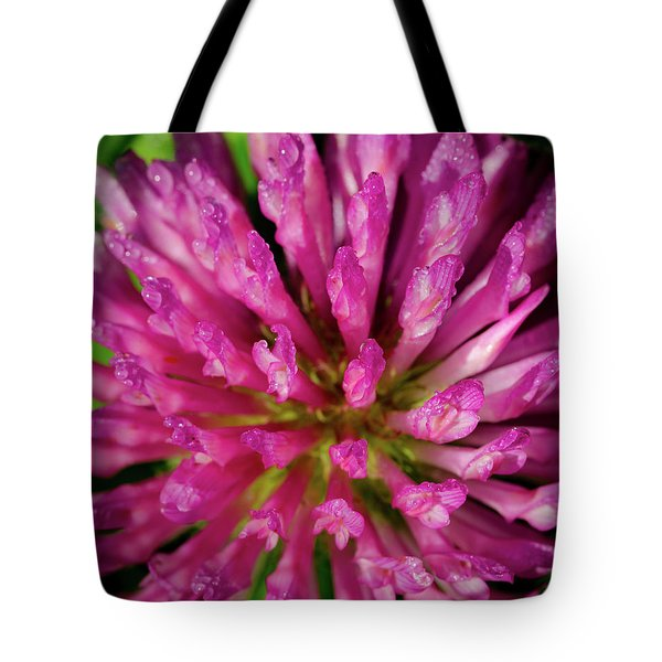 Red Clover Flower Tote Bag