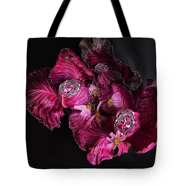 Red Cone Cabbage Tote Bag