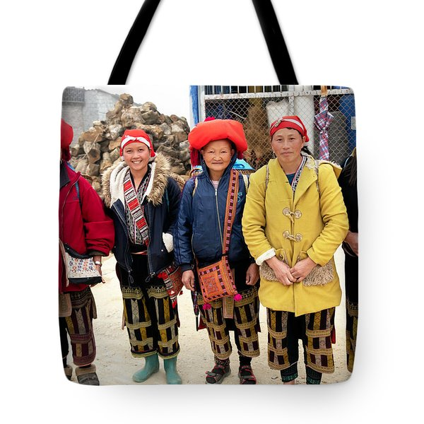 Red Dao Woman From Sa Pa, Vietnam Tote Bag