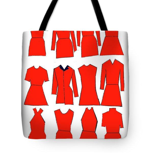 Red Dresses Tote Bag