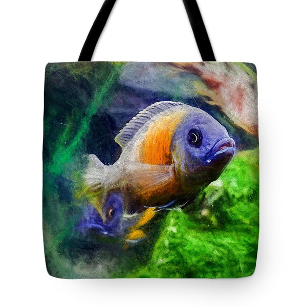 Red Fin Borleyi Cichlid Tote Bag
