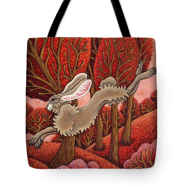 Red Forest Run Tote Bag