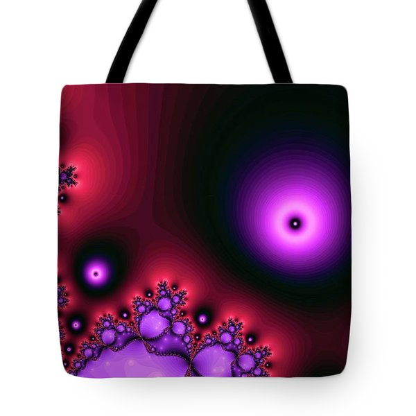 Red Glowing Bliss Abstract Tote Bag