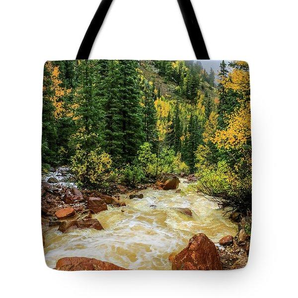 Red Mountain Creek In San Juan Mountains Tote Bag