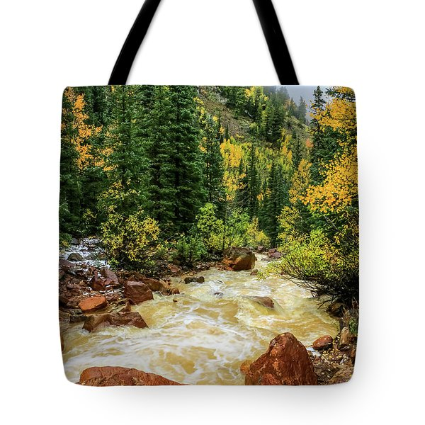 Red Mountain Creek In San Juan Mountains Tote Bag