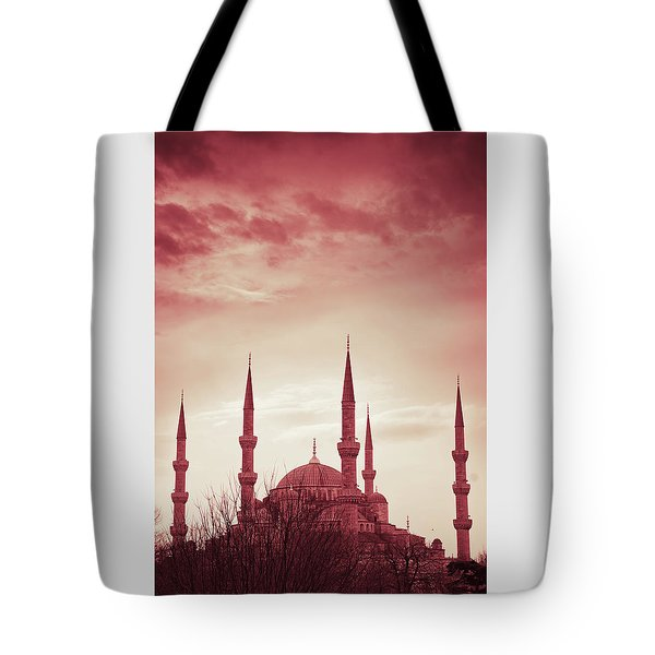 Red Peace Tote Bag