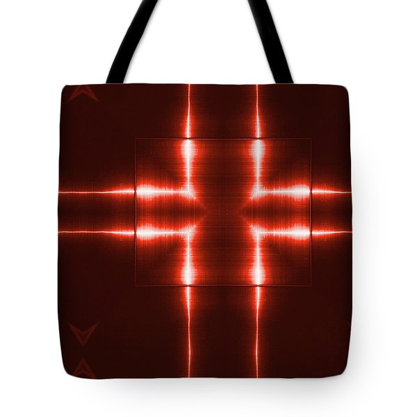 Red Reflecting Metallic Surface. Technological  Background.  Tote Bag