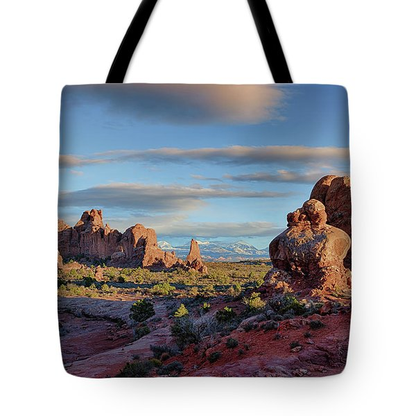 Red Rock Formations Arches National Park  Tote Bag