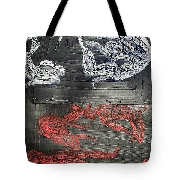 Red Strangles White Cells Tote Bag