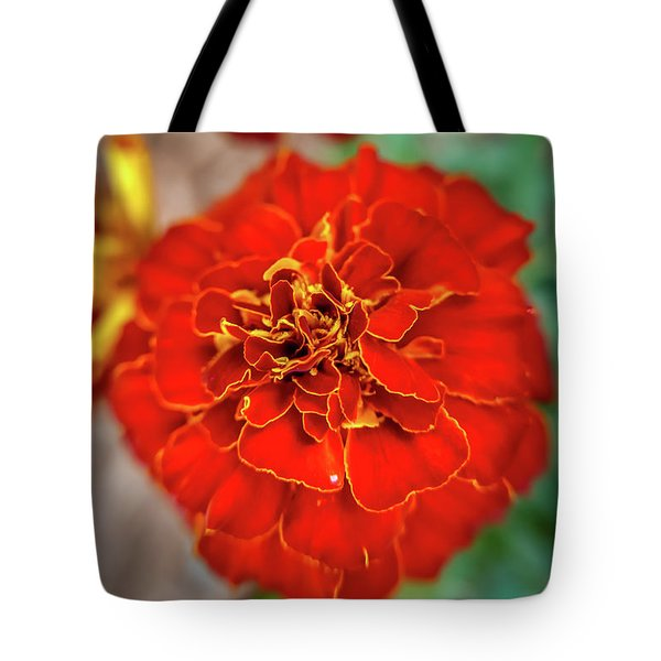Red Summer Flowers Tote Bag