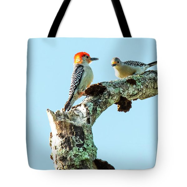 Tote Bag featuring the photograph Red_bellied Woodpecker by Michael D Miller