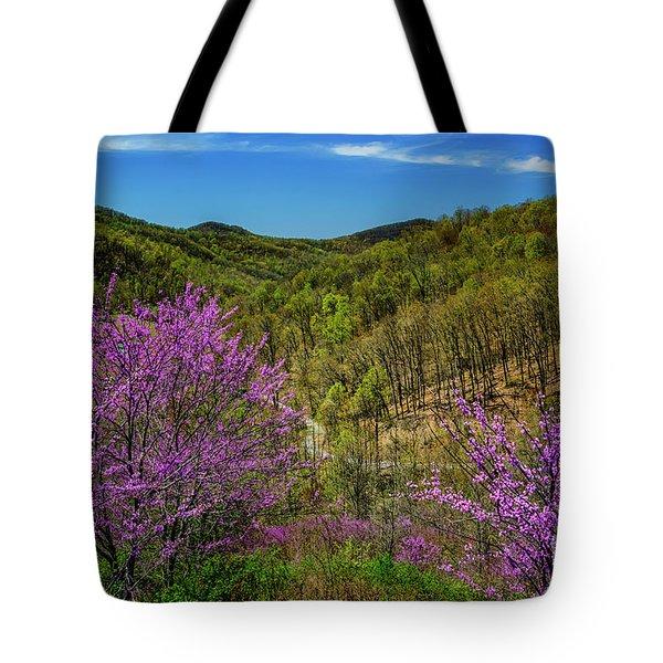 Redbud On The Mountain Tote Bag