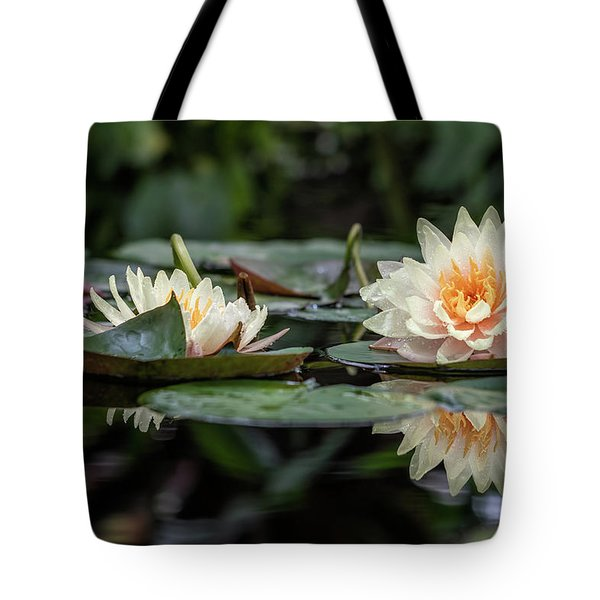 Tote Bag featuring the photograph Delicate Reflections by Laura Roberts