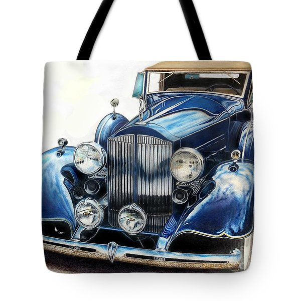 Reflection On Blue Tote Bag